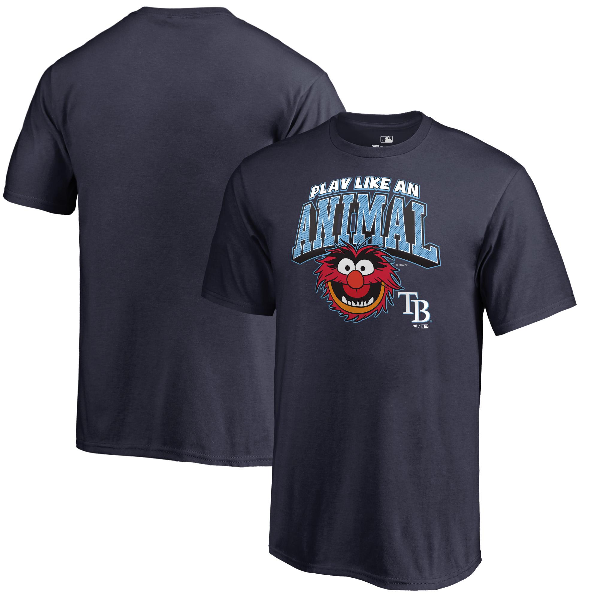 Tampa Bay Rays Fanatics Branded Youth Disney Muppets Play Like an Animal T-Shirt - Navy