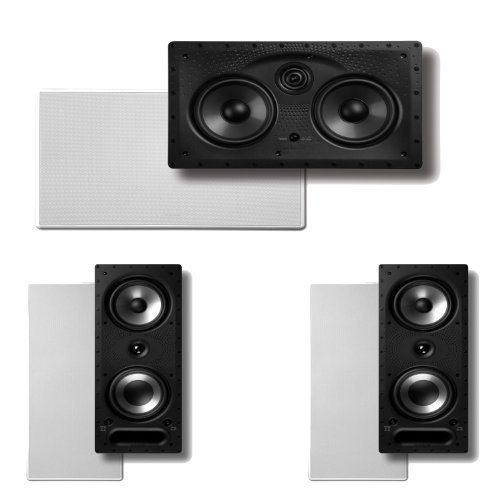 Polk Audio 265RT 3-Way In-Wall Speakers (Pair) Plus A Polk Audio 255C-LS Center Channel In-Wall Speaker by Polk Audio
