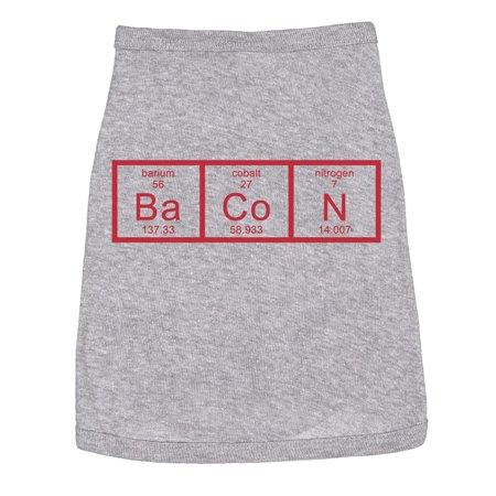 Dog Shirt Element of Bacon Funny Quotes Small Breed Jack Russel Terrier Top - Family Clothes Store