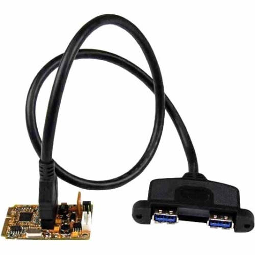 StarTech 2-Port SuperSpeed Mini PCI Express USB 3.0 Adapter Card with Bracket Kit