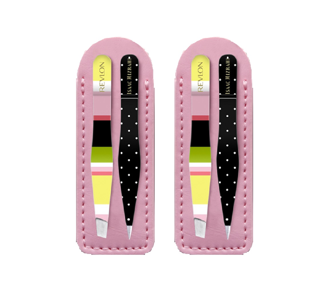 Revlon Isaac Mizrahi Slant and Point Tip Travel Tweezer Set (Pack of 2)