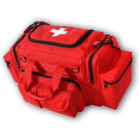 EMT BAG (RED), Detachable shoulder strap and padded carry handles By Rescue Essentials
