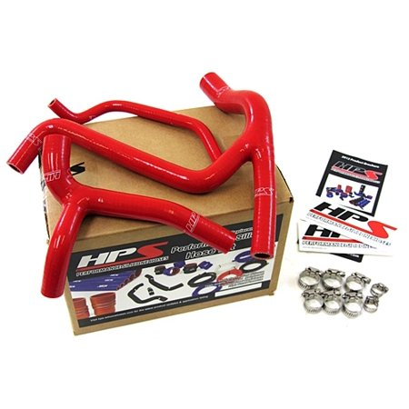 Red Silicone Radiator Hose - HPS Red Reinforced Silicone Radiator Hose Kit Coolant for Kawasaki 2009 KX450F