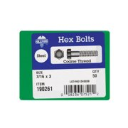 Hillman 7/16 in. Dia. x 3 in. L Zinc Plated Steel Hex Bolt 50 pk - Case Of: 1; Each Pack Qty: 50; Total Items Qty: 50