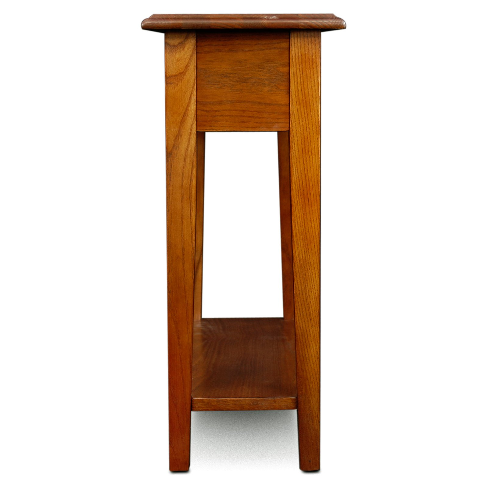 Leick Furniture Chairside End Table in Medium Oak Finish Walmart