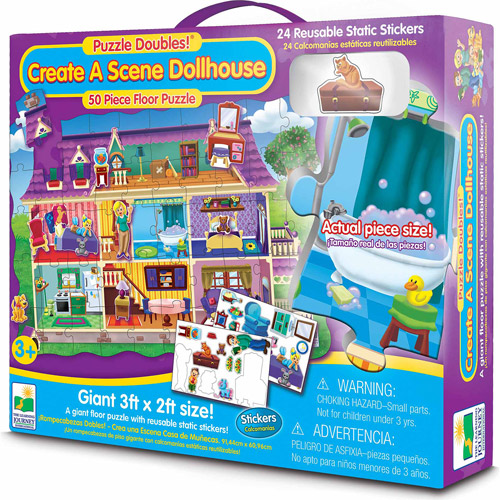 The Learning Journey Puzzle Doubles, Create a Scene Dollhouse