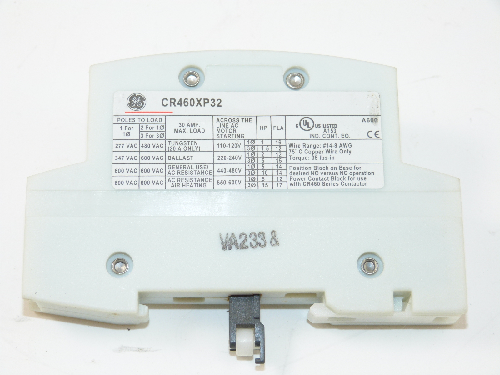 ge cr460xp32 power pole 2 pole for lighting contactor walmart com rh walmart com 1 Pole Contactor 4 Pole 50 Amp Contactor