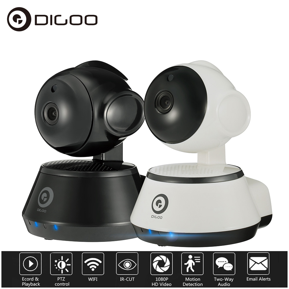 Digoo M1Z Wired & Wireless FHD 1080P WiFi Network IP Camera CCTV,Baby Pet Monitor,Motion Detection Night Vision Two Way Audio Pan&Tilt Onvif APP Control,Smart Home Office Security