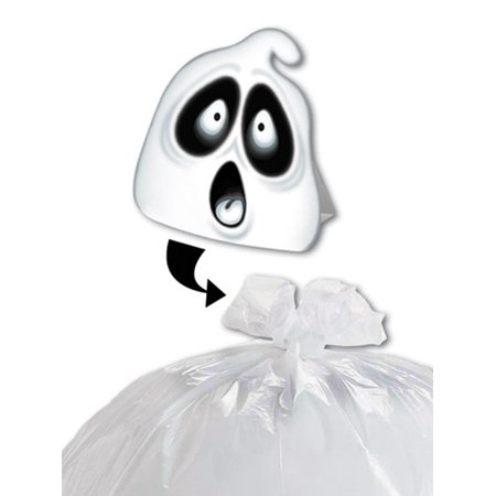 Club Pack of 12 Spooky Spirit Ghost Halloween Leaf Bag Decoration - Spirit Of Halloween Phone Number