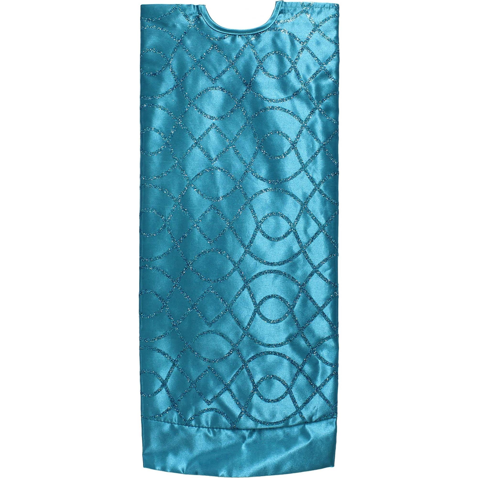 holiday time christmas decor blue lattice 48 tree skirt walmartcom - Teal Christmas Tree Skirt