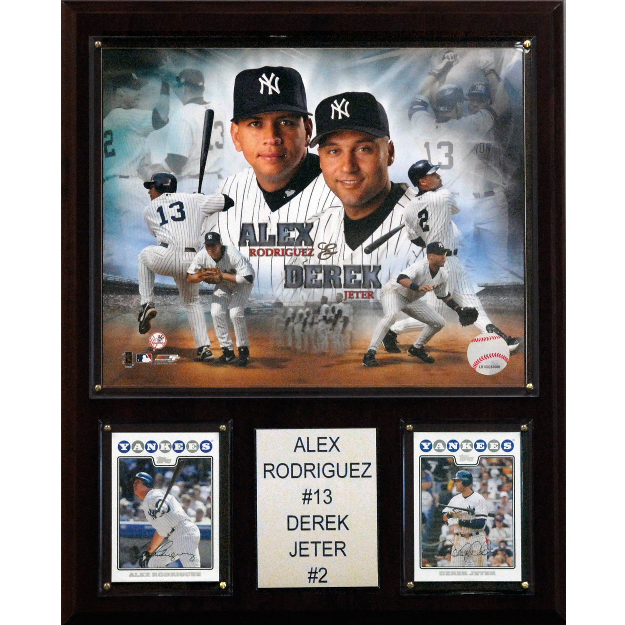 C&I Collectables MLB 12x15 Jeter-Rodriguez New York Yankees Player Plaque