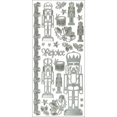 Dazzles Stickers -Nutcracker-Sliver, These shiny and sparkly stickers are great for cards; scrapbook pages; candles; album covers; boxes; mini-books;.., By Hot Off The - Sparkly Candles