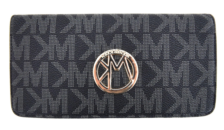3b02b012c1 Blancho Bedding - Blancho Bedding Womens WENDY KEEN PU Leather Wristlet  Wallet Zipper Purse Card Holder GREY - Walmart.com