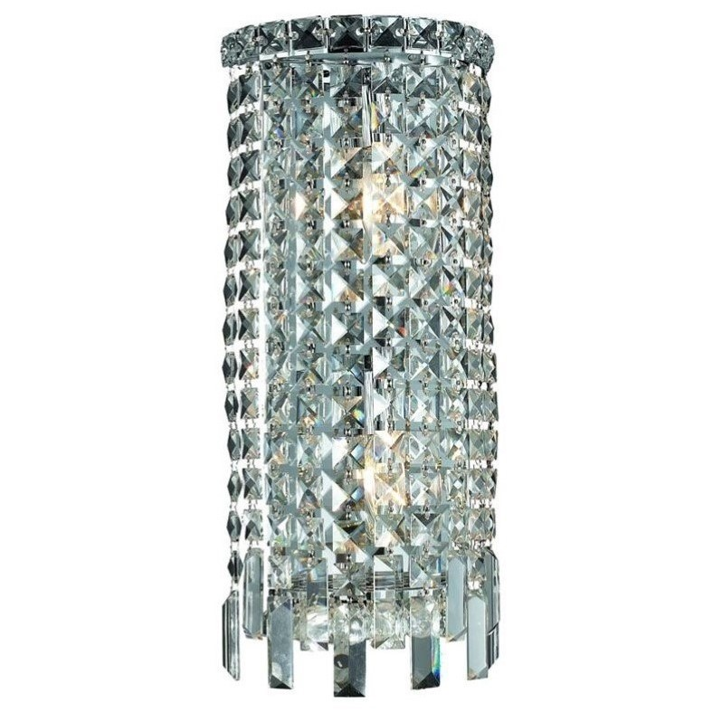 "Elegant Lighting Maxime 18"" 2 Light Elements Crystal Wall Sconce"