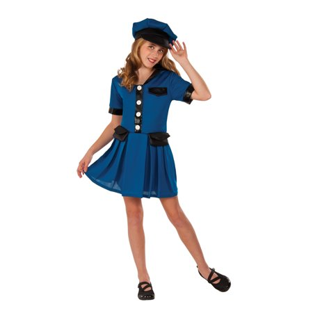 Girls Lady Cop Halloween Costume