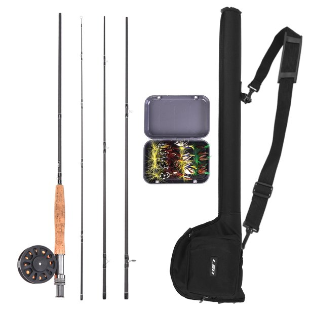 9 Fly Fishing Rod And Reel Combo With Carry Bag 20 Flies Complete Starter Package Fly Fishing Kit Walmart Com Walmart Com