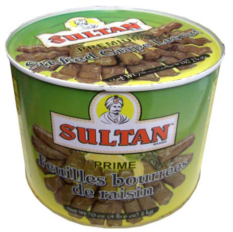 Stuffed Grape Leaves (Sultan) 70 oz (2kg)