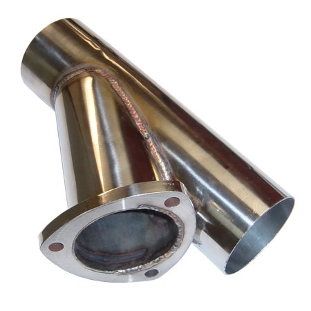Pypes Performance Exhaust YVX13S Y Exhaust Dump Cutout; 3 in.; Hardware Not Incl.; Polished 304 Stainless (Exhaust Dump)
