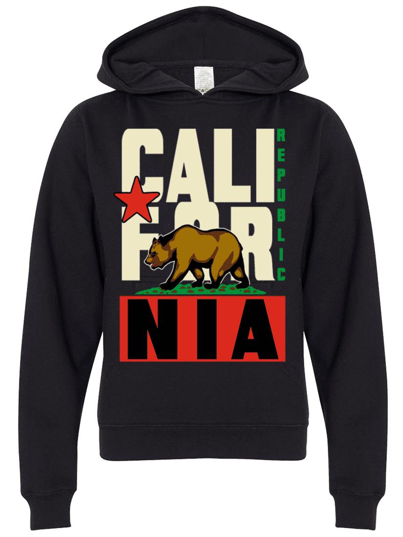 Men/'s Silver California Republic Mask Hoodie Cali Life Bear CA Sweater Jacket
