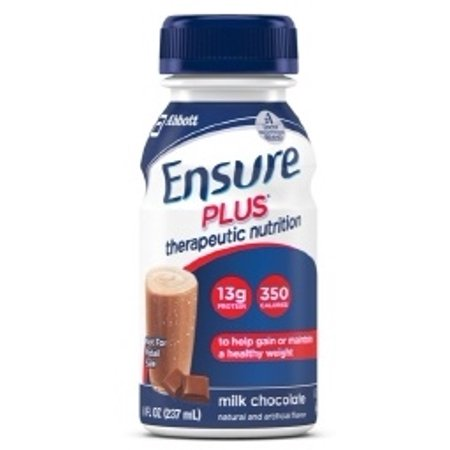 Ensure Plus Chocolate  8 Ounce Bottle  Therapeutic Nutrition  Abbott 58299   Case Of 24