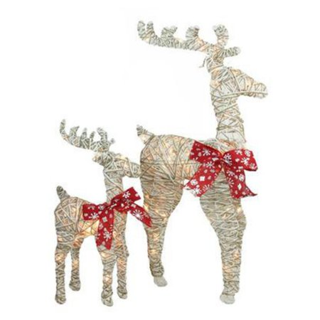 Northlight Glitter Delight Standing Reindeer - Set of 2 ()