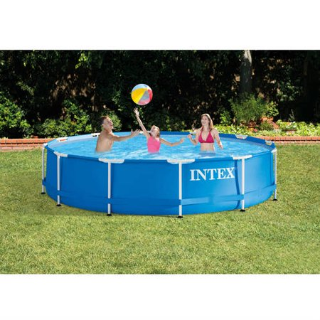 intex 12 39 x 30 metal frame above ground swimming pool shop your way online shopping earn. Black Bedroom Furniture Sets. Home Design Ideas