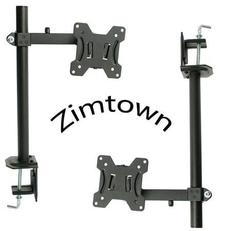 Zimtown 2X Tilt Swivel Desktop Support TV Mount Bracket for 13-27