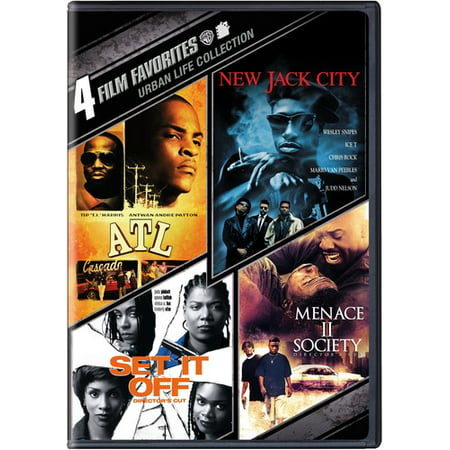 4 Film Favorites  Urban Life   Atl   New Jack City   Set It Off   Menace Ii Society  Widescreen