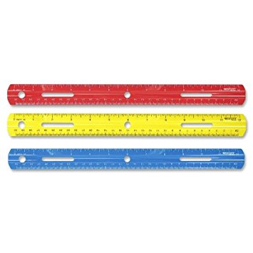 "Westcott 12"" Plastic Ruler, Assorted Colors, 1-Count"
