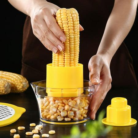 2 in 1 Corn Stripper Cob Peeler For Salad Kitchen Tool Cutter Thresher  Kerneler Remover