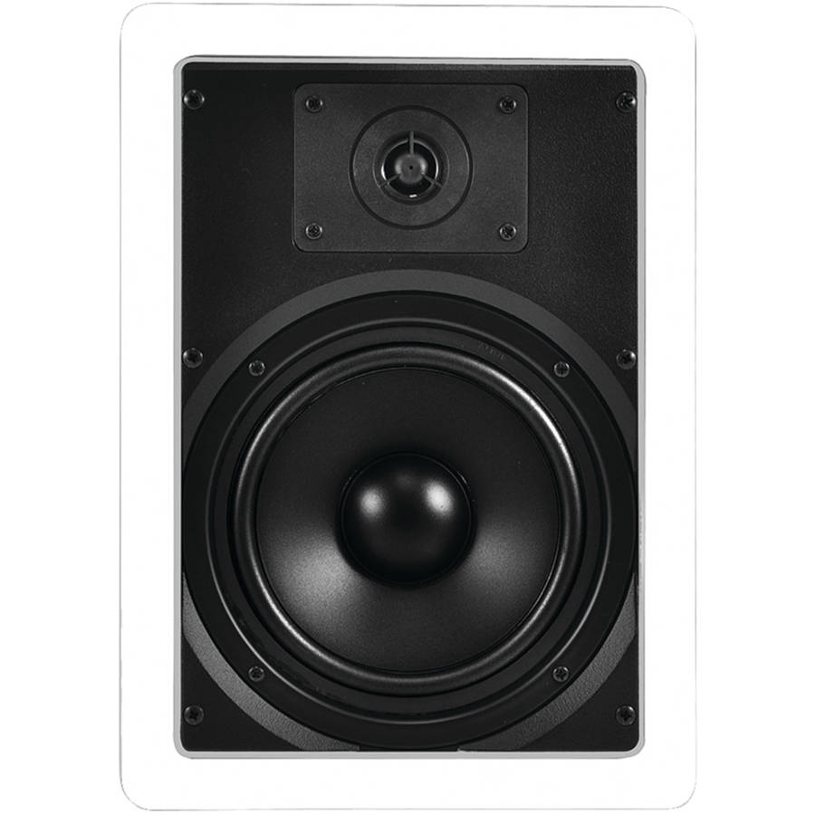 "OSD AUDIO IW620 6.5"" Propylene Woofer Dome Tweeter In-Wall Speakers"