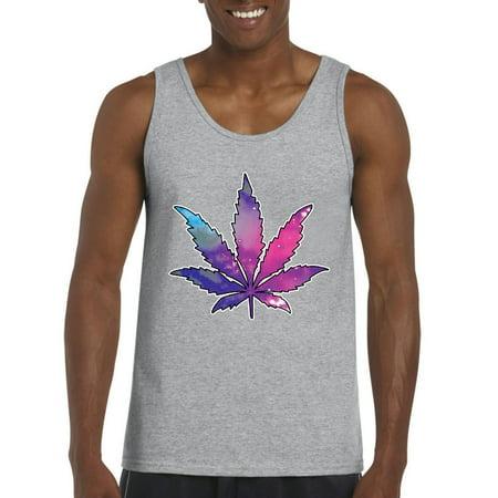 Artix Marijuana Leaf Galaxy Cannabis 420 Fashion Weed Pot People Mens Tank Top