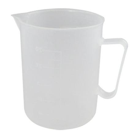 Unique Bargains 250mL Clear White Plastic Handle Graduated Beaker Cup Lab Set