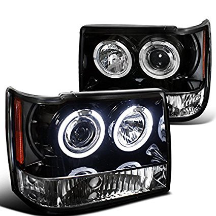 - Spec-D Tuning 2LHP-GKEE93JM-TM Jeep Grand Cherokee Black Halo Projector Headlights