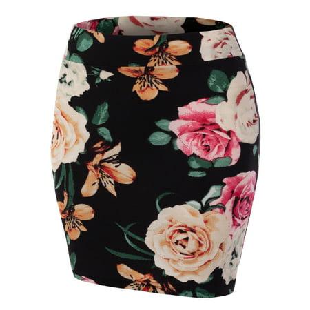 ba58bdc8b97 Doublju - Doublju Women s Casual Stretchy Bodycon Pencil Mini Skirt  BLACKIVORY 2XL Plus Size - Walmart.com