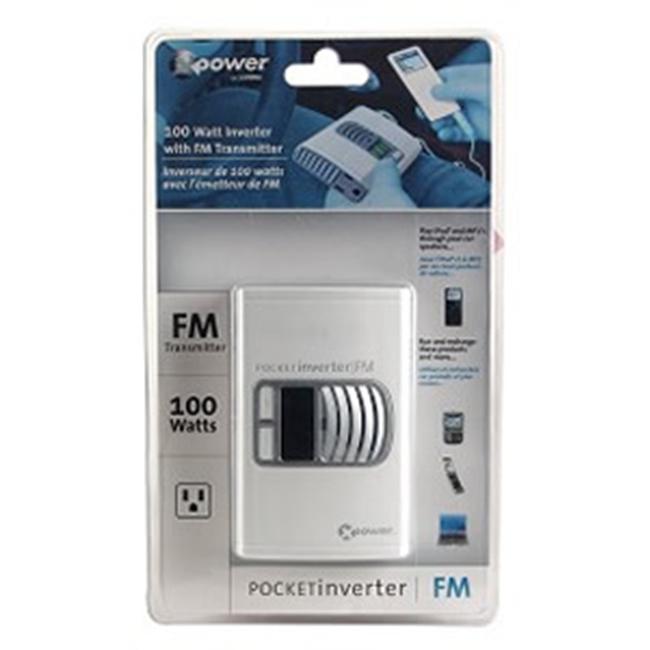 Xantrex 813-0281-01 Pocket Inverter FM 100-Watt DC to AC Mobile Power Inverter with FM Transmitter
