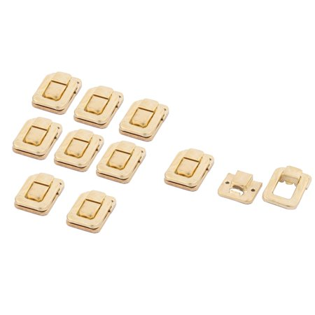 39mmx27mmx9mm Toolbox Case Iron Box Toggle Latch Hasp Lock Gold Tone 10 PCS - image 4 of 4