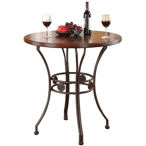Round Kitchen Table And Chairs Walmart Kitchen Table Sc 1: Tavio Counter Height Dining Table With Wood Top And Metal