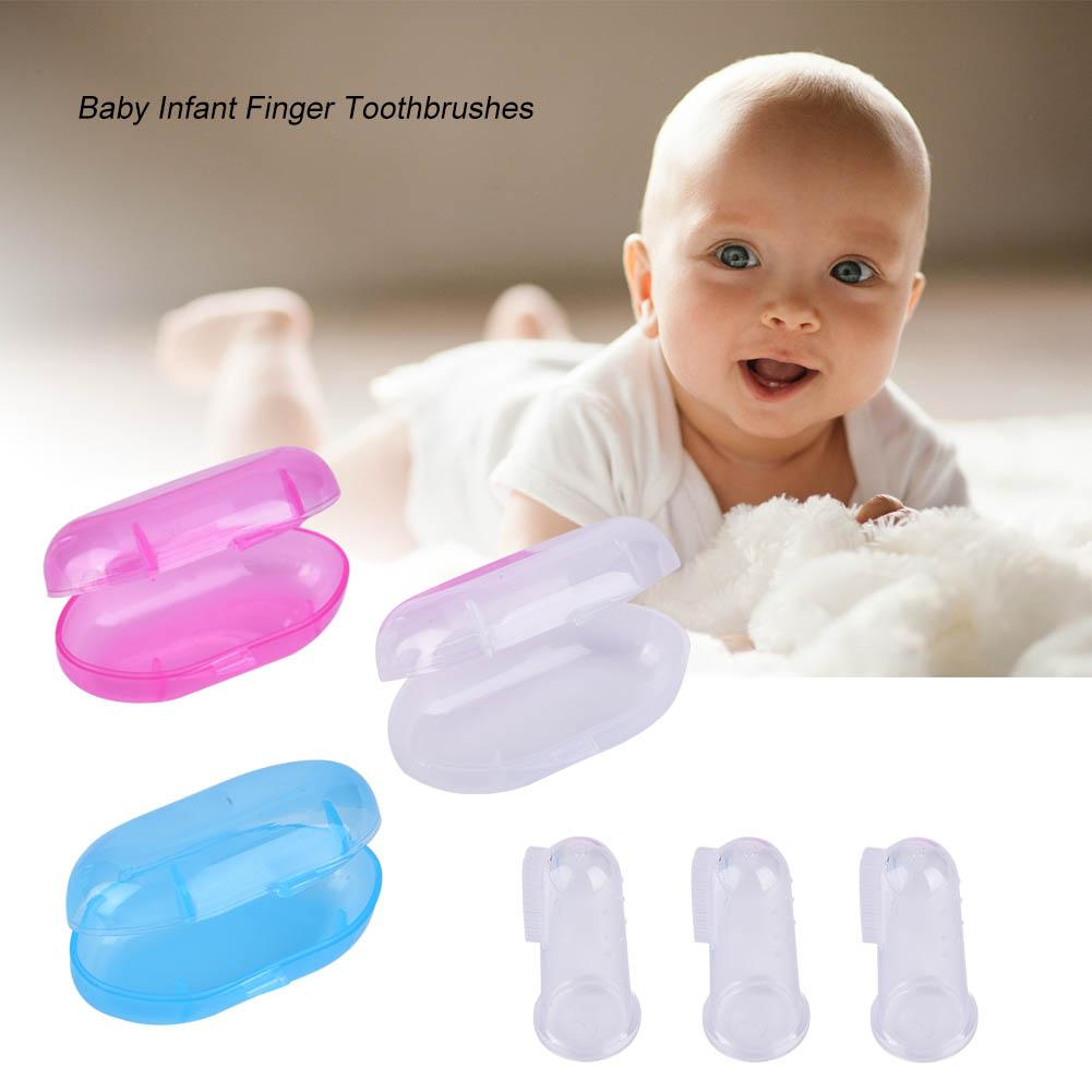 Disposable Baby Toothbrush Finger Toothbrush Baby Tongue Cleaner Brush Oral Care for Kids Infant Toddlers 10Pcs