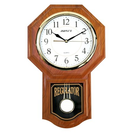 Maples Traditional Wall Clock with Pendulum