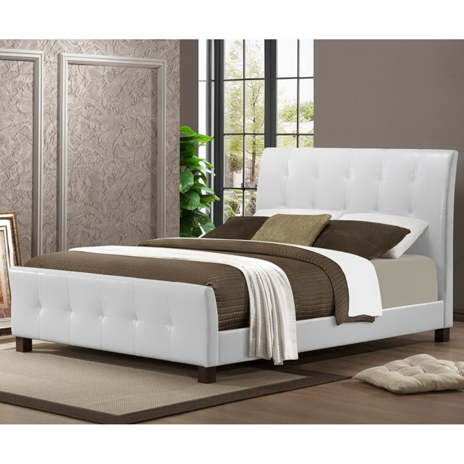 Baxton Studio Amara Upholstered Platform Bed by Wholesale Interiors