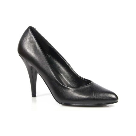 4 inch womens sexy shoes wear to work shoes classic pump shoes black leather 3.25' Sexy Leather Shoe