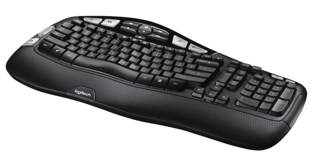 b5fed84e088 Logitech K350 Wireless Keyboard, Black - Walmart.com