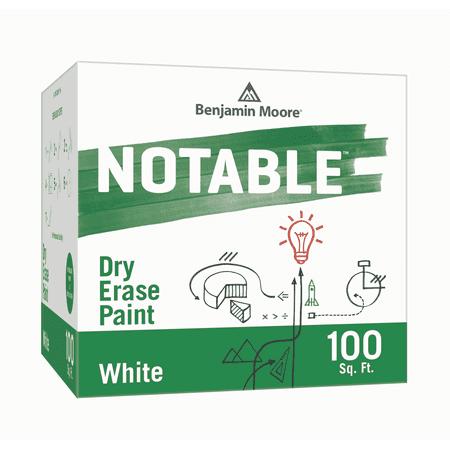 Based White Kit - Benjamin Moore Notable Dry Erase Paint White 100 Sq. Foot Kit
