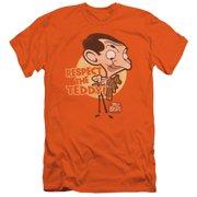 Mr Bean Respect The Teddy Mens Slim Fit Shirt