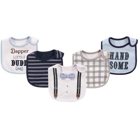 Baby Boy and Girl Cotton Waterproof Bib - Dapper Bow Tie