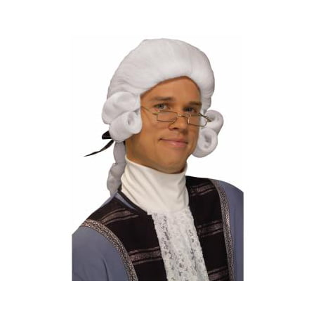 WIG-COLONIAL MAN-WHITE - White Old Man Wig