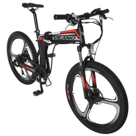 Vilano PROTON  Electric Folding Mountain Bike, 26-Inch Mag