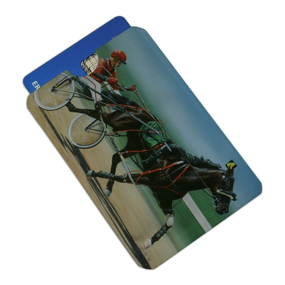 Lead Team Driving Harness Horses Credit Card RFID Blocker Holder Protector Wallet Purse Sleeves Set of 4