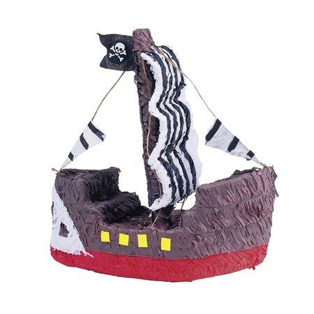 Pirate Ship Pinata, Measures 15 1/2 high x 17 wide x 7 deep By Ya Otta - Pirate Pinatas